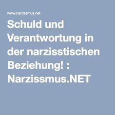 Schuld und Verantwortung in der narzisstischen Beziehung! : Narzissmus.NET
