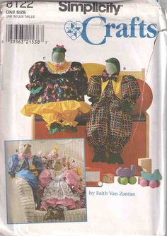 Simplicity 8122 Frog sewing pattern, stuffed frog and clothes pattern, complete and uncut sewing pattern, 90s 1990s nineties sewing pattern by Rethreading on Etsy