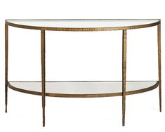 "$699 50"" Clairemont Demilune Console Table by Crate & Barrel"