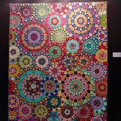 Instagram media by kamiemurdock - Huge thanks to @stuartmoorestextiles for capturing some pics of my quilt on display at the Pour l'Amour du Fil show going on this week in Nantes, France. It's part of @quiltmaniaeditions Millefiori exhibit. So grateful to be included amongst some truly stunning works of art. . . . #AnniesStars #anniestars #lapassacaglia #passacaglia #passacagliaquilt #millefiori #millefioriquilt #epicmillefioriquilt #epp #englishpaperpiecing #kmpassacagliaquilt…