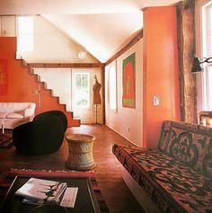 Houses Architects Live In - Interior Design – Voices of East Anglia Design Retro, Vintage Interior Design, Vintage Interiors, Colorful Interiors, Design Design, 70s Decor, Retro Home Decor, Mid-century Interior, Interior Architecture