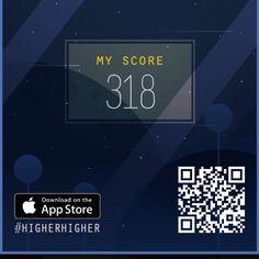 I scored 318 in #HIGHERHIGHER https://itunes.apple.com/us/app/id1141304181