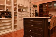 Custom Designed Closet from award winner Artisan Custom Closets - Atlanta http://www.artisancustomclosets.com