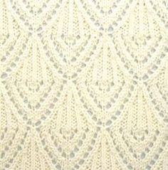Chandelier lace stitch. More great patterns like this: Cables and lace knit stitch Japanese Lace Knitting Stitch