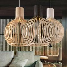Modern Black Wood Birdcage bulb Pendant light norbic home deco bamboo weaving wooden Pendant lamp - Lampen ideen Vintage Pendant Lighting, Wood Chandelier, Black Pendant Light, Cheap Pendant Lights, Wood Lamps, Pendant Lamps, Bamboo Pendant Light, Bamboo Lamp, Ceiling Pendant