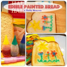 Edible painted bread