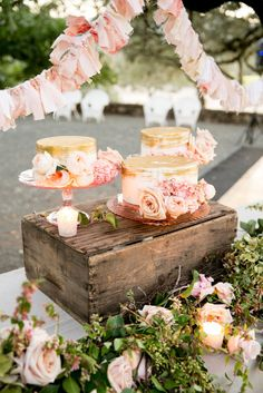 Gold Covered Cakes | Larissa Cleveland Photography https://www.theknot.com/marketplace/larissa-cleveland-photography-san-francisco-ca-767375 | Beltane Ranch https://www.theknot.com/marketplace/beltane-ranch-glen-ellen-ca-612608 | Sweet On Cake https://www.theknot.com/marketplace/sweet-on-cake-napa-ca-588730