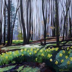 Daffodil Woods 1 (2016) Acrylic painting by joseph lynch | Artfinder