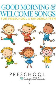 The best good morning songs and welcome songs for preschool and kindergarten! Use these kid songs for circle time or to start the day! Welcome To Preschool, Welcome To Kindergarten, Preschool Names, Kindergarten Songs, Preschool Music, Preschool Activities, Hello Songs Preschool, Preschool Transition Songs, Music Activities