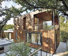 A Modern Tree House-Like Austin Residence Clad in Cedar