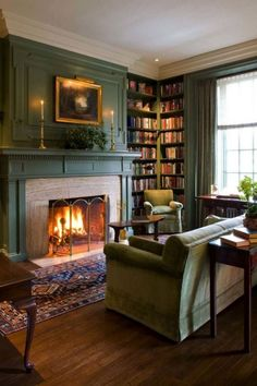 Hottest Pic traditional Fireplace Mantels Tips green floor family room traditio. - Hottest Pic traditional Fireplace Mantels Tips green floor family room traditional with fireplace m - Winter Living Room, Cozy Living Rooms, Living Room Decor, Family Room Design, Family Rooms, Room Colors, Cozy House, Living Room Designs, House Design