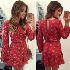Love this pretty little red print dress. Sexy Dresses, Cute Dresses, Casual Dresses, Short Dresses, Fashion Dresses, Summer Dresses, Dress Skirt, Dress Up, Vestidos Sexy