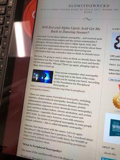 Alpha Lipoic Acid, Diabetic Neuropathy, Chronic Kidney Disease, Diabetes, Writing, Blog, Letter