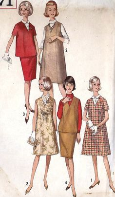 1960s Maternity Jumper Dress and Top