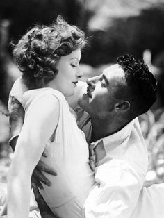 """Greta Garbo and John Gilbert in Love (1927). They said in """"Hollywood: A Celebration of the American Silent Film - 12 Star Treatment, that whenever Greta Garbo entered the room, John Gilbert would freeze, turn a shade of white, take a deep breath, brace himself and then move towards her as if in a trance. He was crazy about her."""