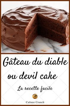 Un grand plaisir chocolaté ! - Expolore the best and the special ideas about Fast recipes Chocolate Candy Recipes, Bakers Chocolate, Artisan Chocolate, Chocolate Cake, Baking Recipes, Cake Recipes, Dessert Recipes, Frosting Recipes, Mousse Au Chocolat Torte