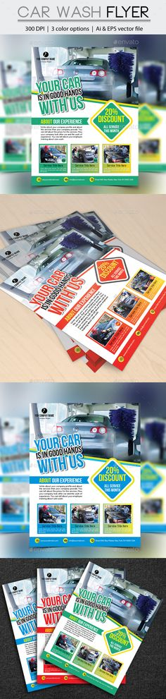 Car Wash Flyer  Car Wash Font Logo And Catalog Design