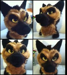 German Shepherd fursuit head by iSqueakypinky
