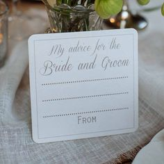 Advice For The Bride And Groom Coasters. Guest Book - The Wedding of My Dreams