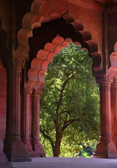 Arches, Red Fort, Delhi, India