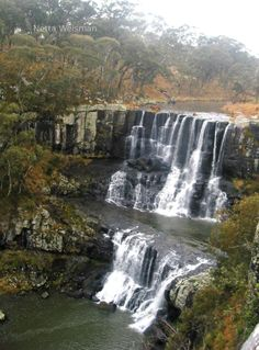 Upper Ebor Falls in Light Mist, Guy Fawkes River NSW, Australia