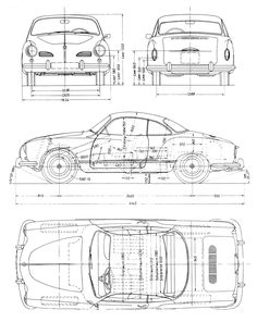 Karmann Ghia Blueprint
