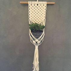Macramé plant hanger made from cotton. (Plant not included) Any overcharge on shipping will be refunded. Pot Hanger, Macrame Design, Macrame Patterns, Weaving, Diy Projects, Pure Products, Handmade, Crafts, Hobbies