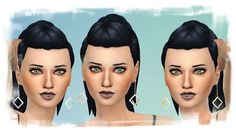 La Luna Rossa-Sims: Square on Chain Earrings • Sims 4 Downloads