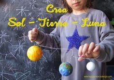#Astronomía para niños: crea el sol la tierra y la luna