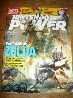 Nintendo Power magazine vol 211 - Zelda Twilight Princess cover + 2-sided poster