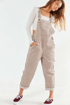 Shop BDG Relaxed-Fit Corduroy Overall at Urban Outfitters today. Minimal Fashion, Urban Fashion, Fashion Pants, Fashion Outfits, Relaxed Outfit, 90s Outfit, Urban Dresses, Sport Wear, Sport Outfits