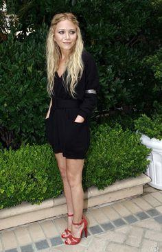 Mary-Kate Olsen in red heels