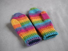 Womens mittens, medium thick wool mittens, customized mitts, winter mittens, rainbow striped mittens by TinyOrchidsCrochet on Etsy