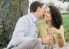 Romantic & playful engagement shoot in Switzerland.