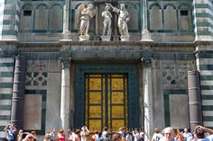 Gate of Paradise, east doors facing the Duomo, Florence Italy