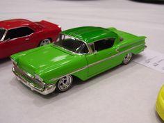Green '58 Chevrolet hard top