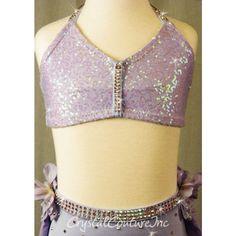 35c12cf4b7394 Lt Purple Bra-Top and Trunk/Skirt - Swarovski Rhinestones - Size YM -  Lyrical - Costumes
