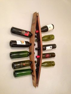 Barrel Stave 10 Bottle Wall Mount Wine by ColoradoBarrelDesign, $137.00