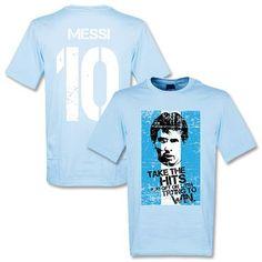 T-Shirt de Messi 10 con bandera Argentina - Celeste
