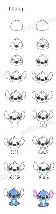 Resultado de imagen para como dibujar a stitch paso a paso