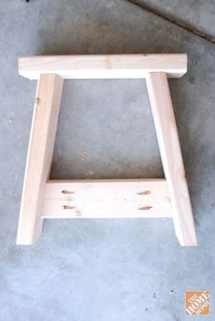 Lets assembled for farmhouse bench DIY project