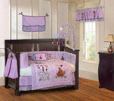 Jungle Animal 10 Piece Crib Bedding Set
