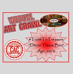 Here is my Creative Arts Collaboration (CAC) April, 2016 Hashtag Event promotion video for Please come back from April 13 to 2016 to se. Tissue Box Covers, Tissue Boxes, Virtual Art, Trash To Treasure, Spring Art, Creative Art, Promotion, Videos, Youtube