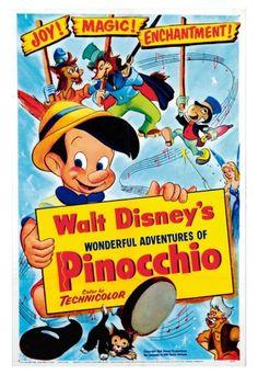 Filme: Pinocchio (Pinóquio, 1940). Direção: Norman Fergusson. Elenco: Mel Blanc, Don Brodie e Dickie Jones.