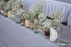 Flower arrangement - vintage shabby chic wedding I created www.christieblizzard.com - Perth