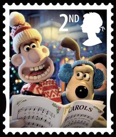 """Wallace & Gromit stamps on """"Dogs on Stamps"""""""