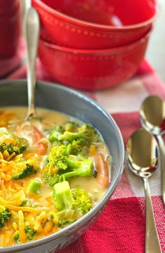 Cream of Broccoli Soup is one of our favorite quick and easy meals at any time of year! Perfect for lunch, or an easy weeknight dinner with salad & loaf of french bread. #food #yum #comfortfood #feedfeed #recipe #foodpics #recipeoftheday #familyfav #EEEEEATS #truecooks #goodeats #foodie #yummie #homecooking #foodblog #truecooks #foodisfuel #foodcoma #fooddiary #creambroccolisoup #souprecipe #broccolirecipe #dinner #weeknightdinner #onepotmeal #familydinnerideas #easyrecipes #bestrecipes #delish Cream Of Broccoli Soup, Broccoli Cheese Soup, Easy Healthy Recipes, Easy Dinner Recipes, Easy Weeknight Dinners, Easy Meals, Food Is Fuel, Homemade Soup, Food Diary