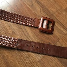Banana Republic Braided Leather Belt EUC.  Only worn a few times! Smoke free home.  44 inches long & 2 inches wide. Banana Republic Accessories Belts