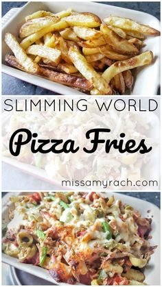 Slimming World Recipe - Pizza Fries - Featured Image Slimming World Pizza, Slimming World Diet Plan, Slimming World Dinners, Slimming World Recipes Syn Free, Veggie Recipes, Cooking Recipes, Veggie Meals, Healthy Recipes, Healthy Meals