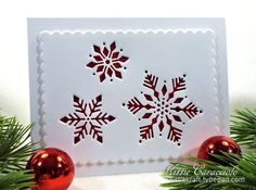 KC Impression Obsession Snowflake Cutout 4 right Cricut Christmas Cards, Christmas Cards 2018, Simple Christmas Cards, Homemade Christmas Cards, Noel Christmas, Handmade Christmas, Homemade Cards, Holiday Cards, Christmas Crafts